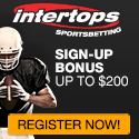 $200 Welcome Bonus at Intertops!